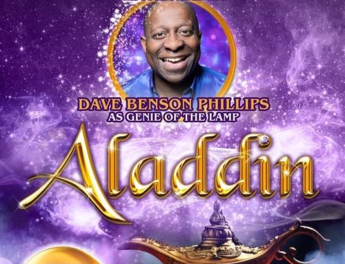 Dave is Aladdin's Genie in Rochdale 2019