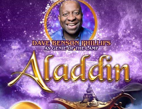 Dave is Aladdin's Genie in Rochdale 2019